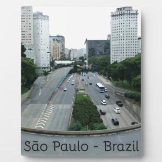 23demaio Allee São Paulo Fotoplatte