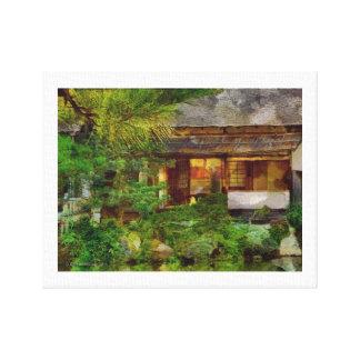 241 Japaner-Garten-Tee-Haus-Besucher Leinwanddruck