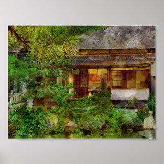 241 Japaner-Garten-Tee-Haus-Besucher Poster