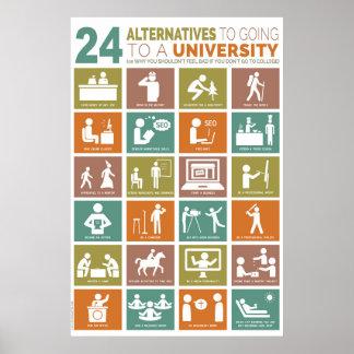 24 Alternativen zum Gehen zu einer Universität Poster
