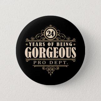 24. Geburtstag (24 Jahre des Seins herrlich) Runder Button 5,1 Cm