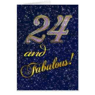 24. Geburtstag für jemand fabelhaft Grußkarte