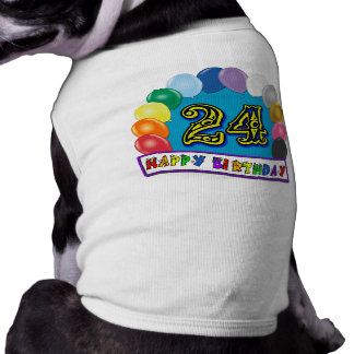 24. Geburtstags-Geschenke mit sortiertem Ballon-En Haustier Tshirt