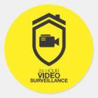 24 Hour Video Surveillance Runder Aufkleber