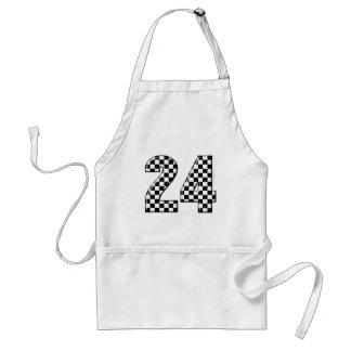 24 Schachbrettflaggenzahl Schürze
