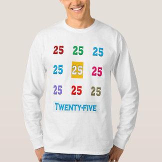 25. 25 fünfundzwanzigste Geburtstags-Jahrestag T-Shirt