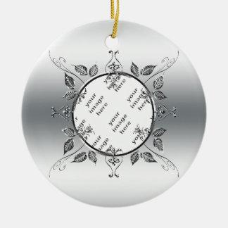 25. Andenken des silberne Rundes Keramik Ornament