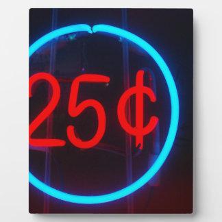 25 Cents für die Show Fotoplatte