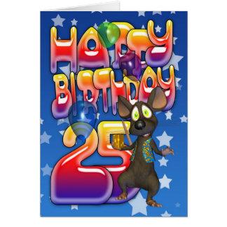 25. Geburtstags-Karte, alles Gute zum Geburtstag Karte
