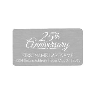 25. Hochzeits-Jahrestag personalisiert Adress Aufkleber
