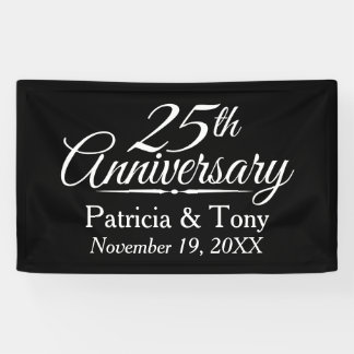 25. Hochzeits-Jahrestag personalisiert Banner