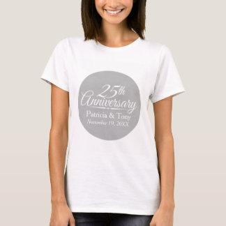 25. Hochzeits-Jahrestag personalisiert T-Shirt