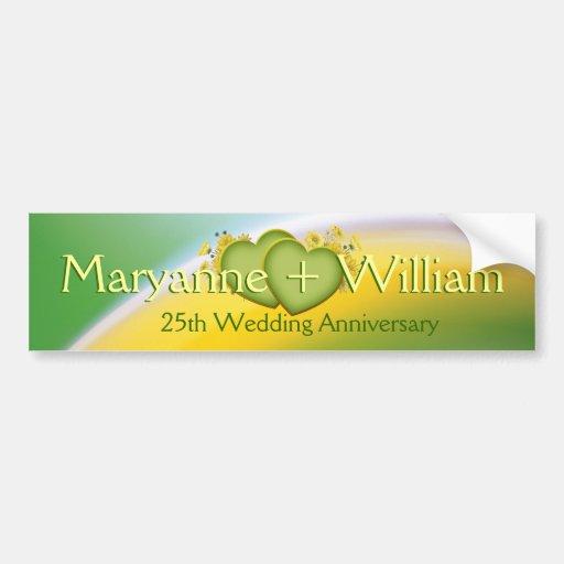25. Hochzeits-Jahrestags-Party-Dekoration Auto Sticker