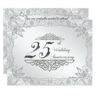 25. Hochzeitstag-Einladung 10,8 X 14 Cm Einladungskarte