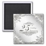 25. Hochzeitstag-Magnet Magnete