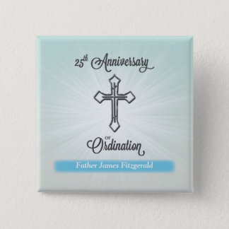 25. Jahrestag der Klassifikation, quadratisches Quadratischer Button 5,1 Cm