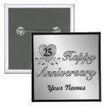 25. Jahrestag - Silber Anstecknadelbutton