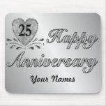 25. Jahrestag - Silber Mauspads