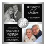 25. Jahrestags-Einladungen mit 2 Fotos