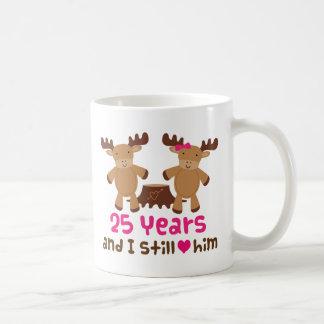 25. Jahrestags-Geschenk für sie Tasse