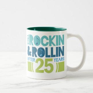 25. Jahrestags-Hochzeits-Geschenk Zweifarbige Tasse
