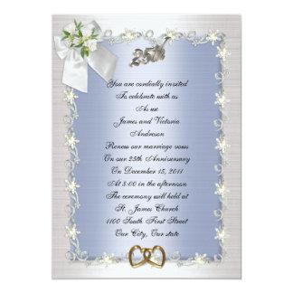 25. Jahrestags-Party Einladung elegant