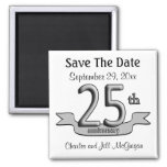 25. Jahrestags-Save the Date Gastgeschenke Magnete