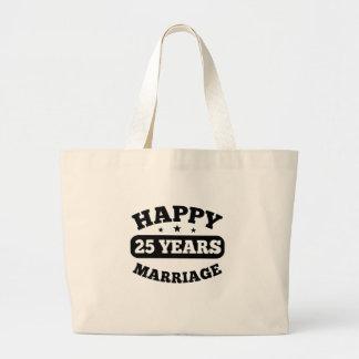 25-jährige glückliche Heirat Jumbo Stoffbeutel