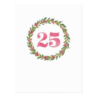 25 Kranz in Pink Postkarte
