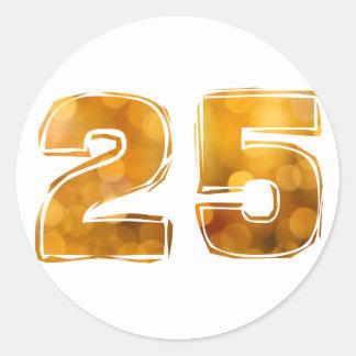 25 RUNDER AUFKLEBER