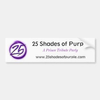 25 Schatten lila Autoaufkleber