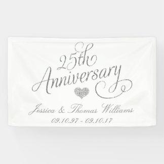 25. Silberner Hochzeitstag Banner