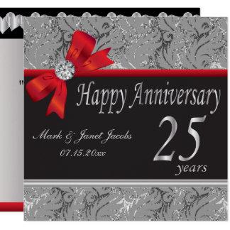 25. Silberner Hochzeitstag Karte