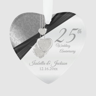 25. Silbernes Hochzeitstag-Andenken Ornament