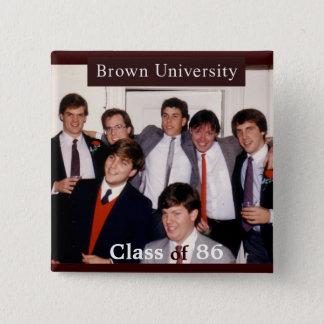 25. Wiedersehen-Knopf Browns Quadratischer Button 5,1 Cm