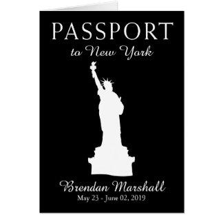26. Geburtstags-Pass New York City Mitteilungskarte