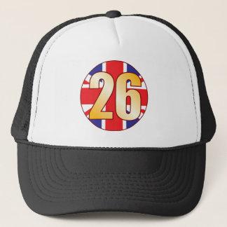 26 Großbritannien-Gold Truckerkappe