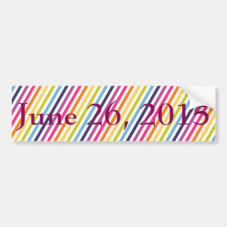 26. Juni 2015 Heirat-Gleichheit Autoaufkleber