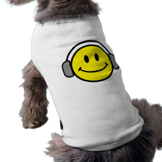 2700-Royalty-Free-Emoticon-With-Headphones EMOTICO Ärmelfreies Hunde-Shirt