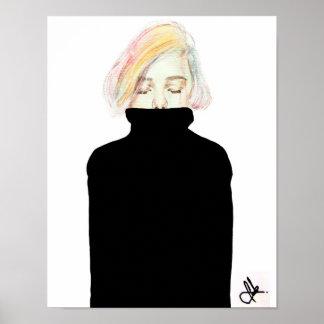 27,99cm x 35,53cm print Kunst - obsessed Poster