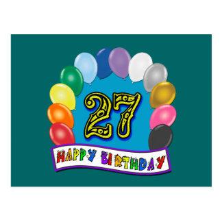 27. Geburtstags-Geschenke mit sortiertem Postkarte