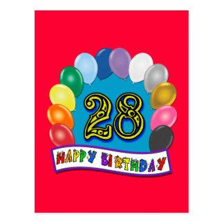 28. Geburtstags-Geschenke mit sortiertem Postkarte