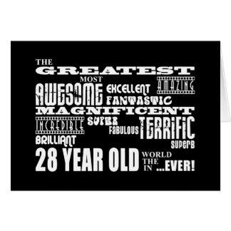 28. Geburtstags-Party-bestste achtundzwanzig Karte