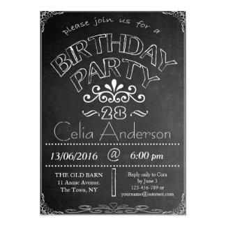 28. Tafel-Geburtstags-Feier-Einladung Karte