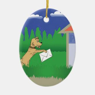 28dog und Buchstabe Keramik Ornament