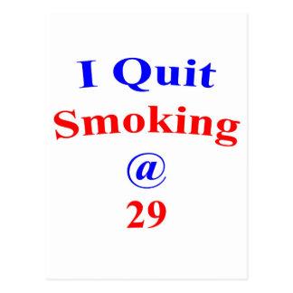 29, die ich beendigte zu rauchen postkarte