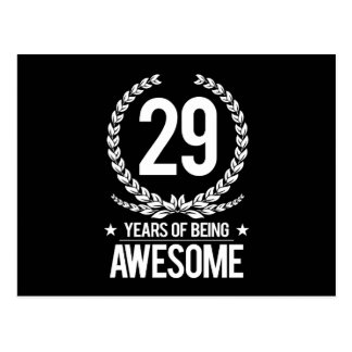 29. Geburtstag (29 Jahre des Seins fantastisch) Postkarte