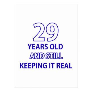 29-Geburtstags-Entwurf Postkarte