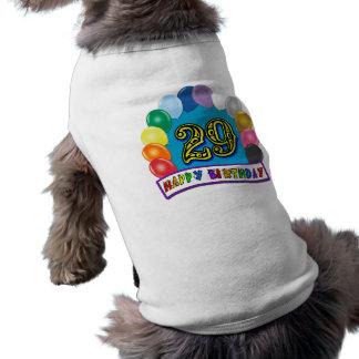 29. Geburtstags-Geschenke mit sortiertem Ballon-En Hund Tshirt