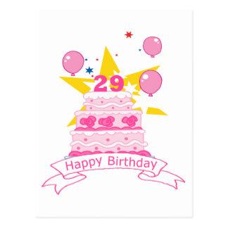 29 Jährig-Geburtstags-Kuchen Postkarten